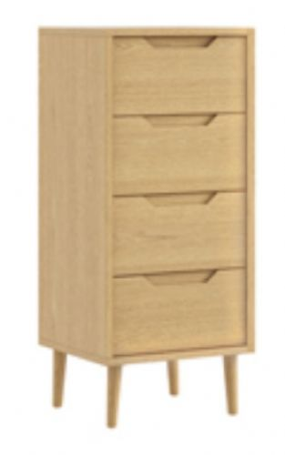 Turin 4 Drawer  Midi Bedside